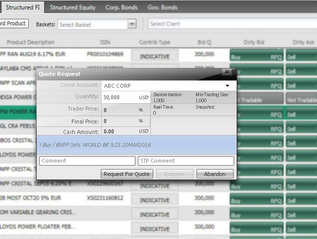 GM - Cortex Secondary - Screenshot Structured Fixed Income